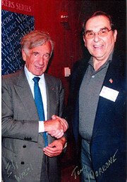 Speakers Anthony Morrone with Elie Wiesel