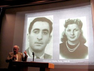 Survivor Dave Tuck sharing a photo of him and his wife after the Holocaust.