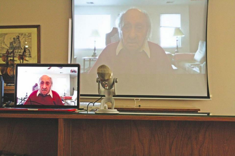 Skype enables survivor to bring Holocaust to life