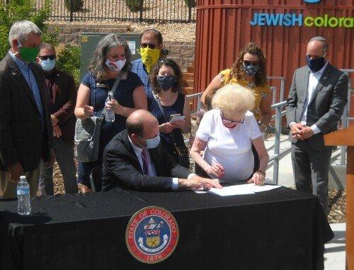 Colorado Governor signs Holocaust and Genocide Education in Public Schools bill.